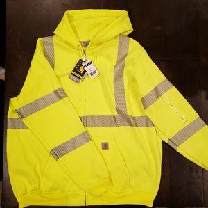 Men's Carhartt 2XL Yellow High Vis Hoodie BNWT